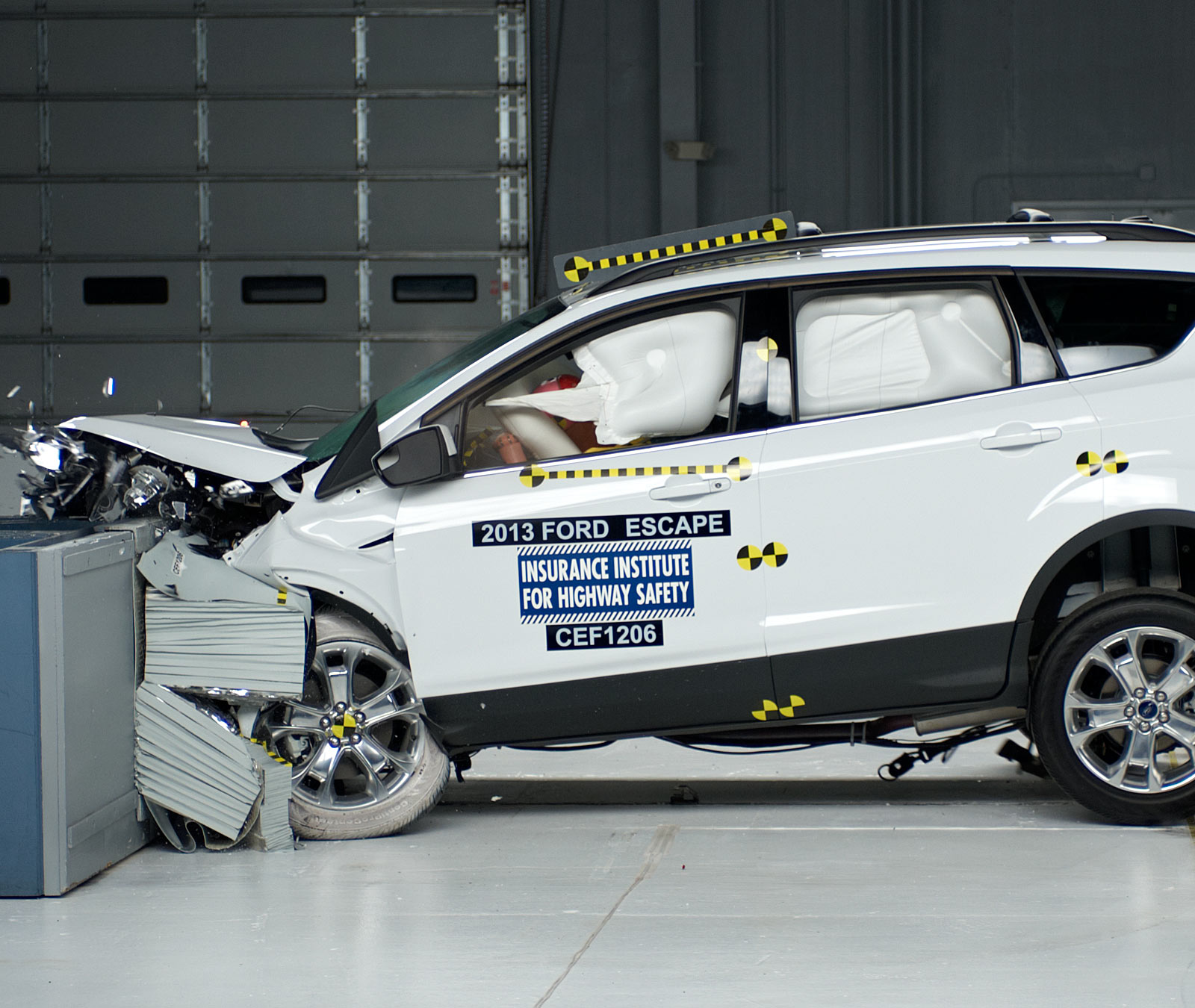 Action Shot Taken During The Insute S Moderate Offset Frontal Crash Test