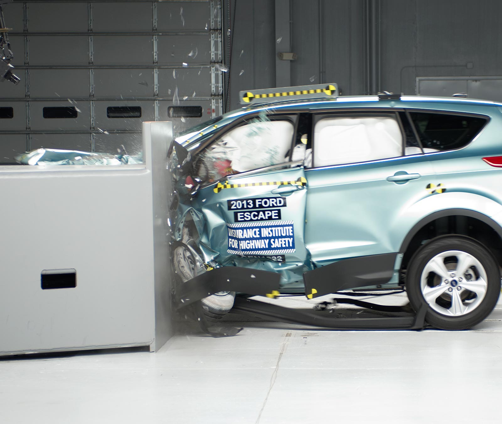 Action Shot Taken During The Small Overlap Frontal Crash Test