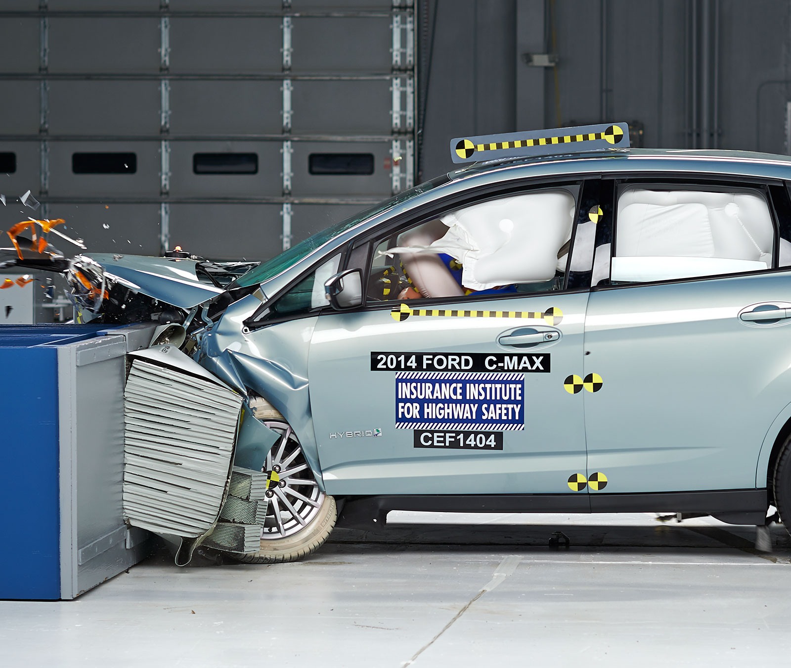 Action Shot Taken During The Moderate Overlap Frontal Crash Test