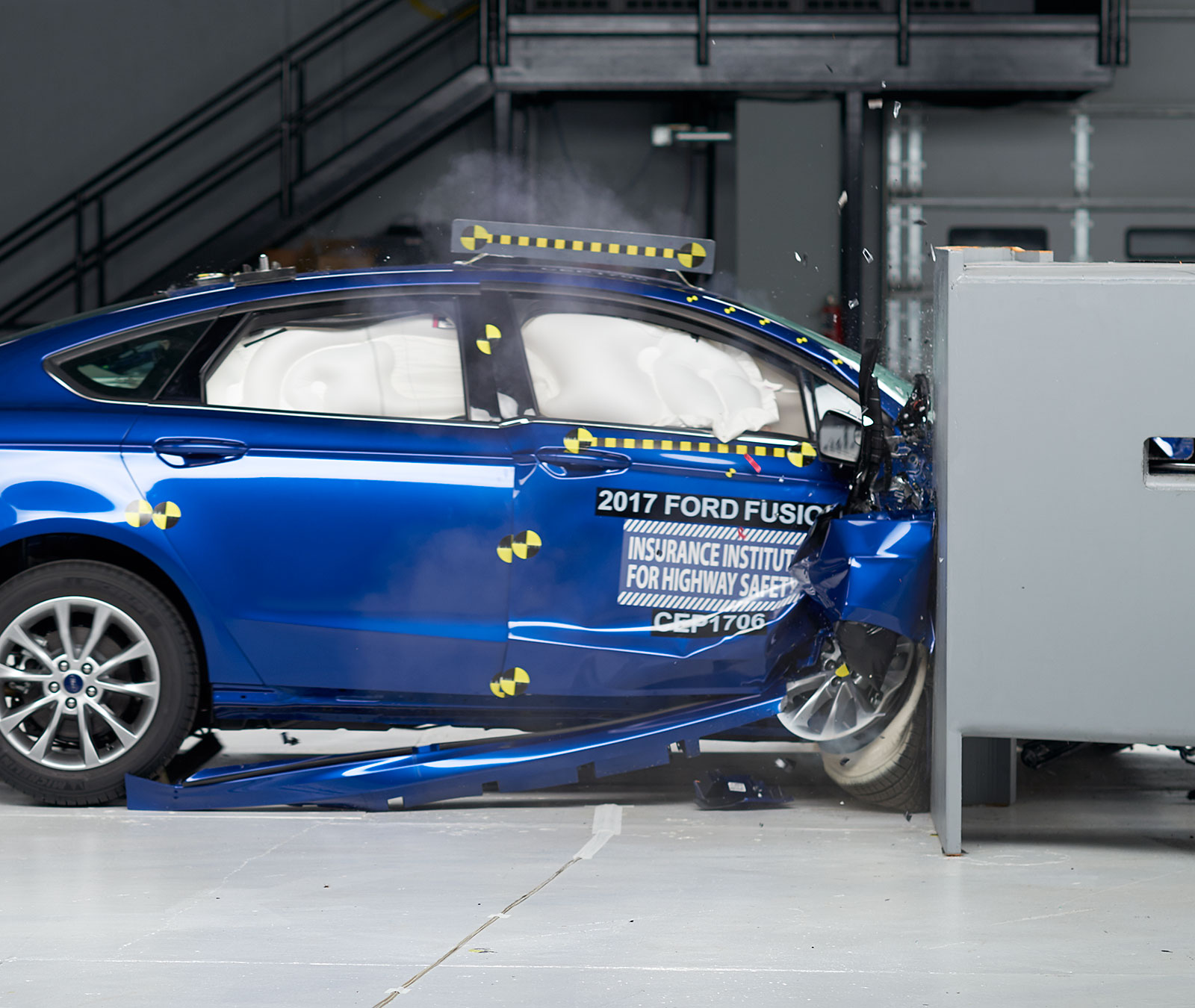 Action Shot Taken During The Penger Side Small Overlap Frontal Crash Test