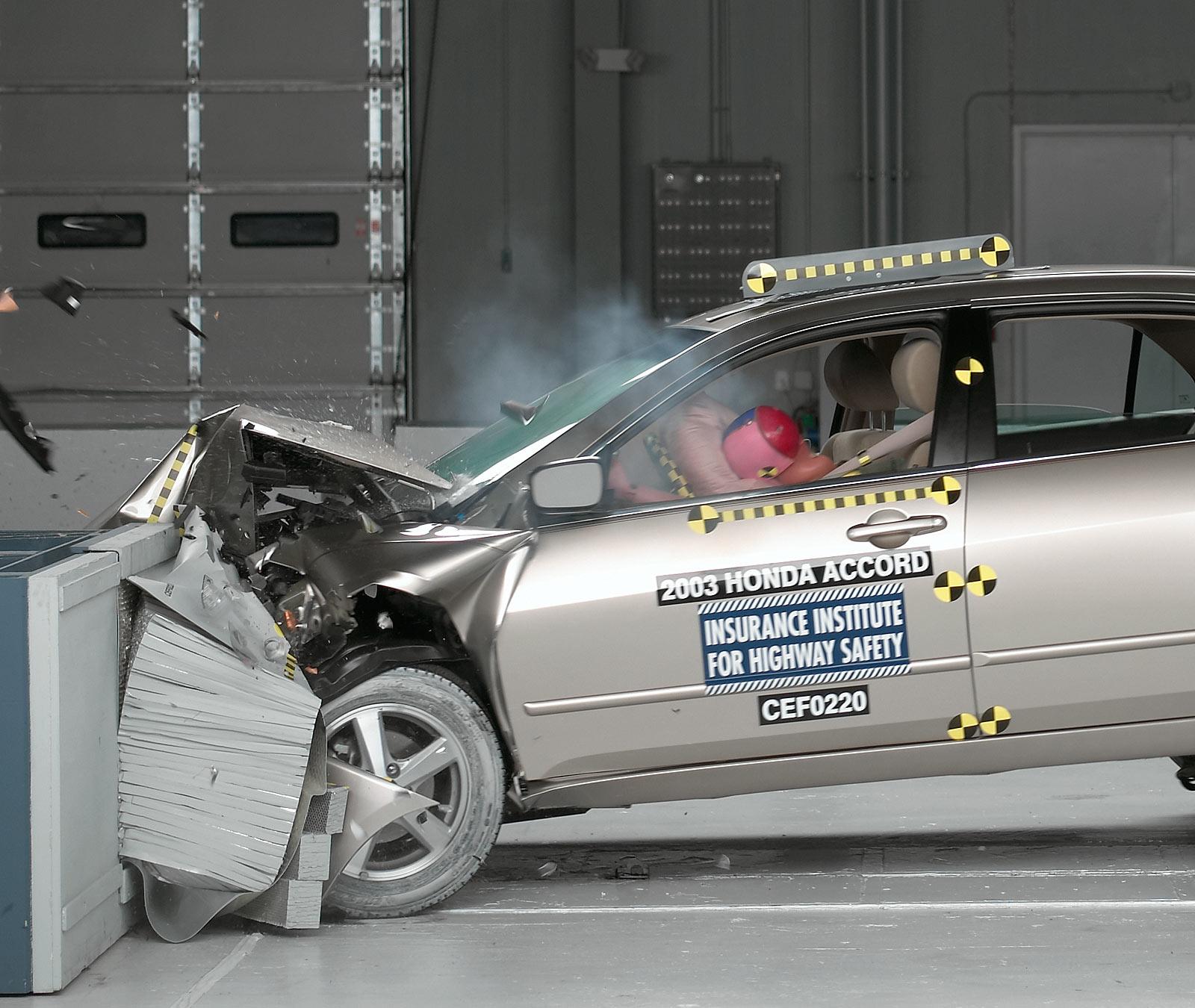 Action Shot Taken During The Frontal Offset Crash Test