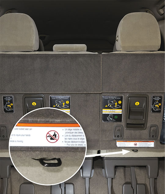 Rating Vehicles For Latch Ease Of Use