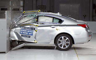 Acura TL crash test action shot