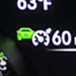 Adaptive cruise control icon