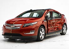 Chevrolet Volt after side impact test