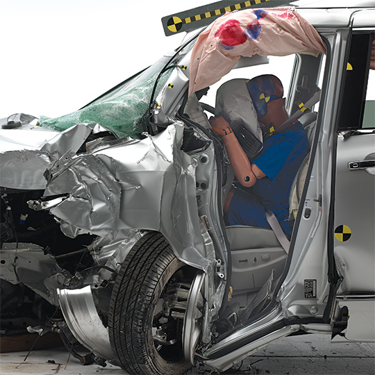 Nissan Quest post-crash