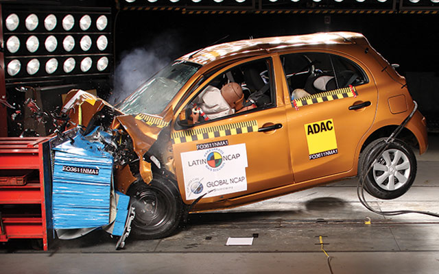 Nissan March LatinNCAP test