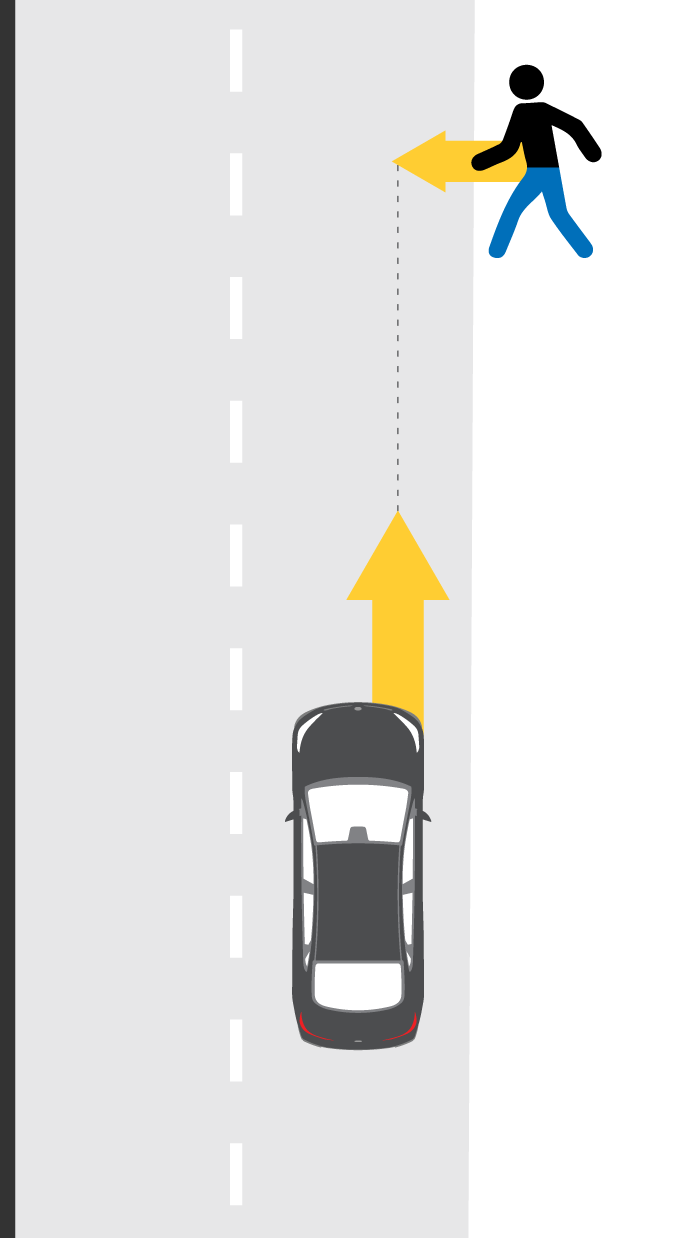 Perpendicular adult pedestrian test
