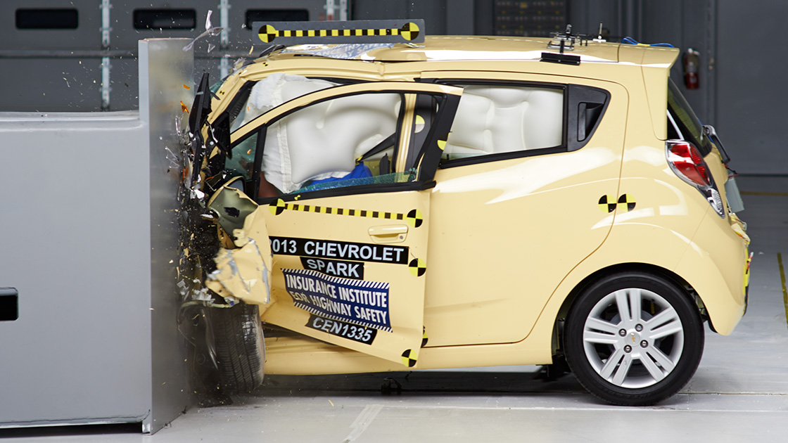 Crash Image From IIHS Testing