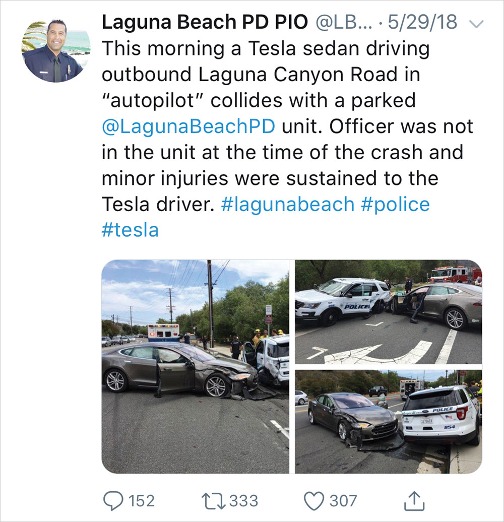 Police department tweet
