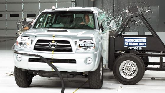 Small Pickups Aren T Providing As Much Protection In Side Crashes Many New Cars And Suvs The Toyota Tacoma Was Only One Of Five Pickup Trucks