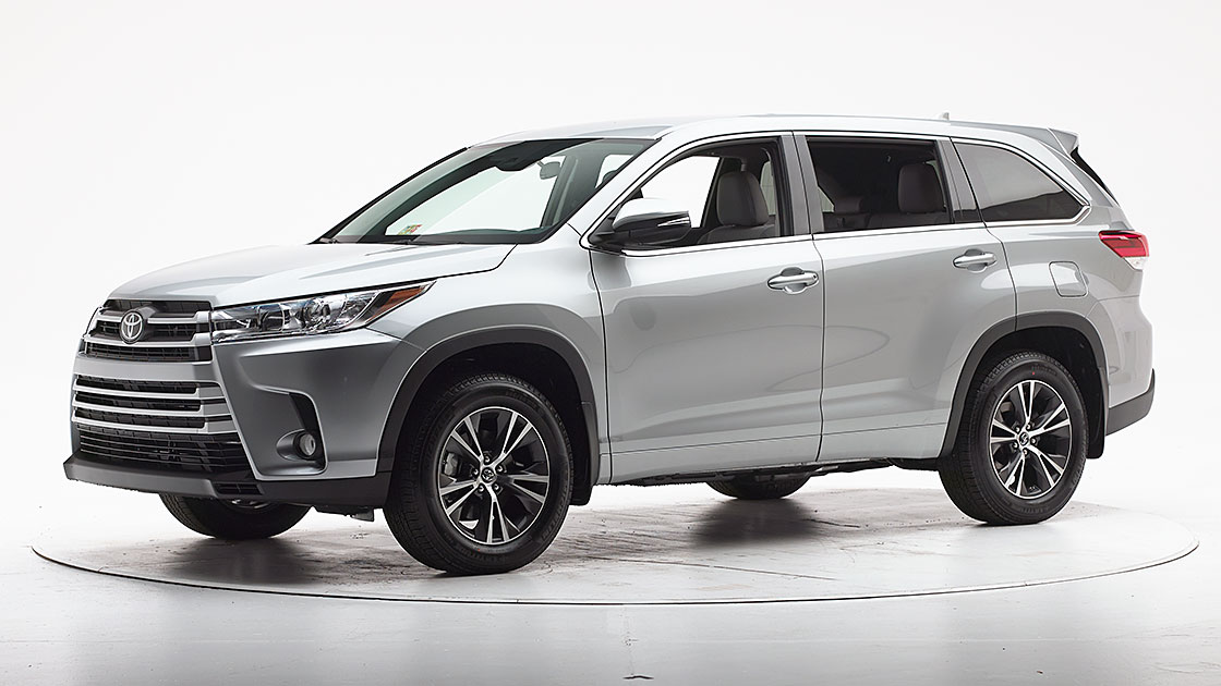 Toyota Highlander earns Top Safety Pick+