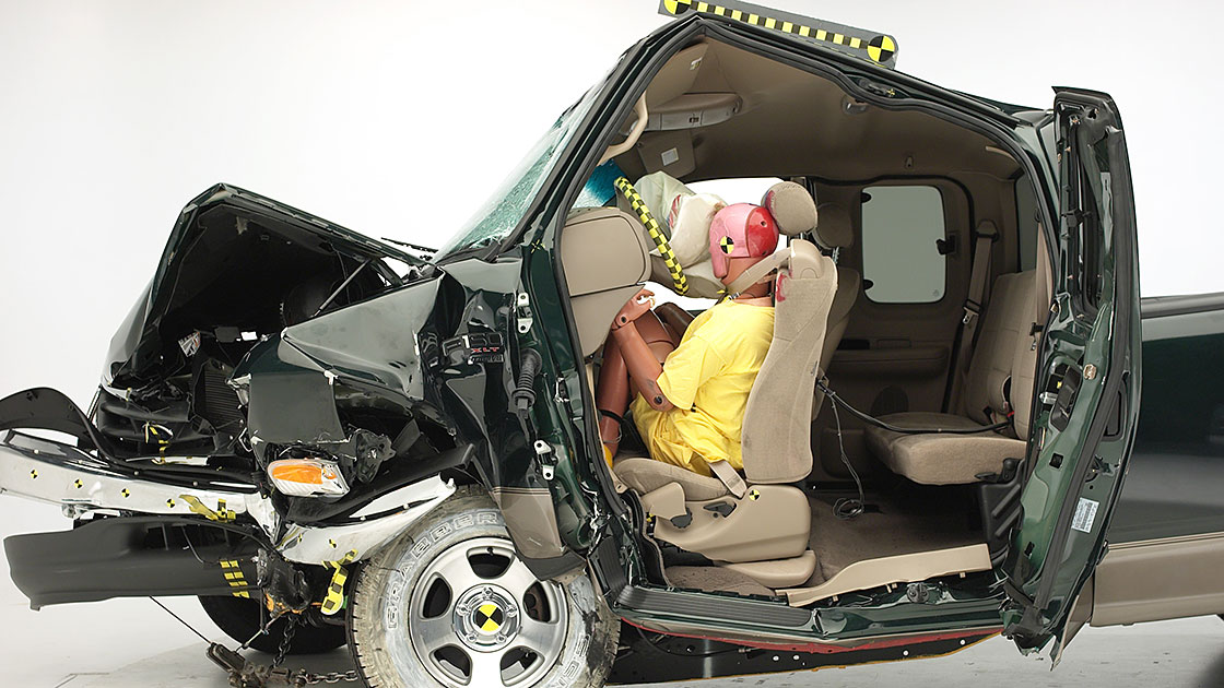 Crash test ratings for pickups range from good to poor