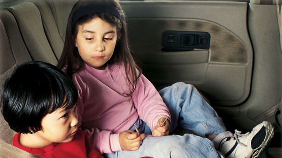 Many children still ride unrestrained or in front seat
