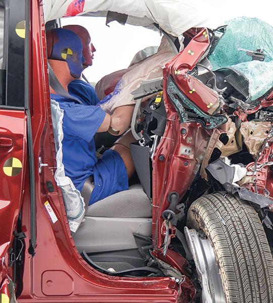 Toyota Sienna passenger-side intrusion