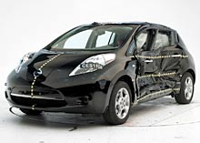 Nissan Leaf after side impact test