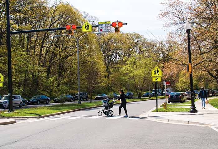 Pedestrians and bicyclists