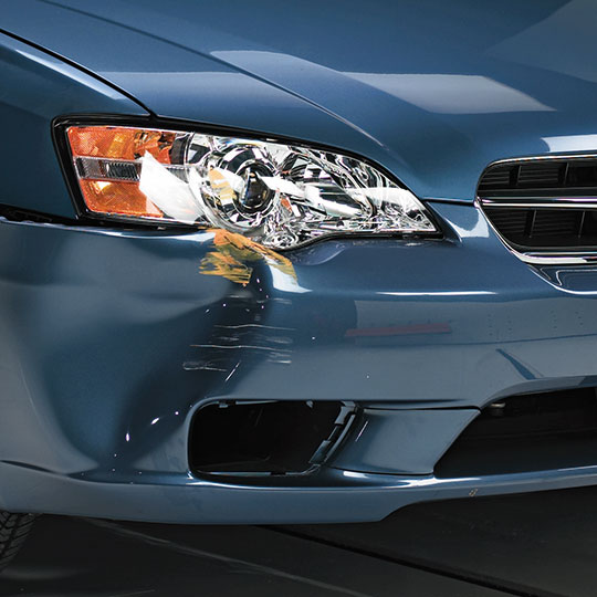 Subaru headlight damage