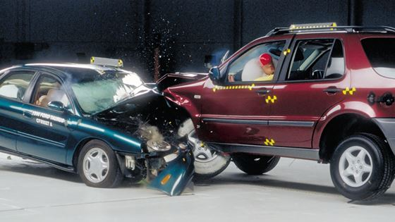 Mismatch Of The Front Ends Vehicles In This Crash Test Is A Problem Suv S End Energy Absorbing Structure Rides Over Car