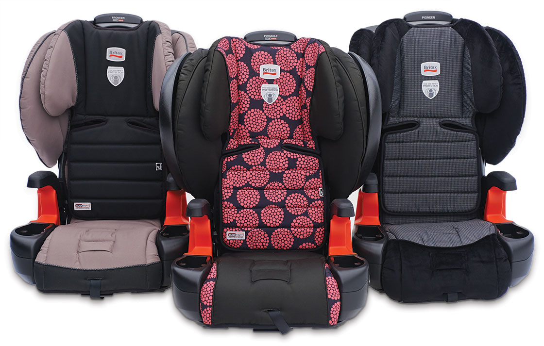 3 Britax booster models